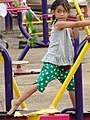 Girl Exercising in Park - Chiang Saen - Golden Triangle - Thailand (35192641051).jpg