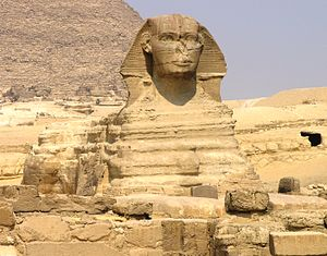 Giza Plateau - Great Sphinx - front view.JPG
