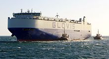 Glovis Sunrise arriving in Fremantle, Australia, not long before sunset in September 2015