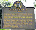 Glynn County, Georgia historical marker.JPG