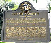 Glynn County, Georgia historical marker