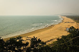 Gokarna, Karnataka - Gokarna town beach seen from south
