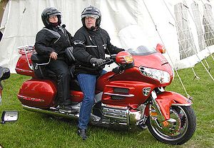 Motorcycle accessories - Touring fairing on a Honda Gold Wing