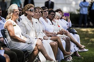 American Gold Star Mothers - Gold Star Mothers listen as Army Chief of Staff Gen. Mark A. Milley (not pictured) offers remarks during the 80th Gold Star Mother's Day commemorative ceremony at Arlington National Cemetery in Arlington, Va., Sept. 25, 2016.