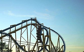 Six Flags Fiesta Texas - Goliath located in Los Festivales