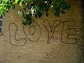 Grafitti - LOVE - Wall of a school - behesht st - Nishapur 2.JPG