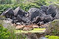 Granite rocks on the island la digue, Seychelles (25731827328).jpg