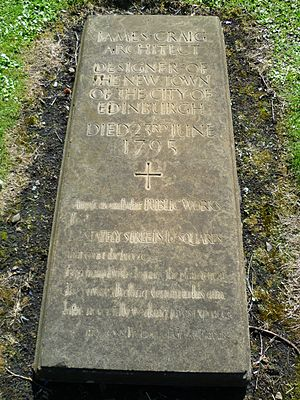 James Craig (architect) - Grave of James Craig in Greyfriars Kirkyard