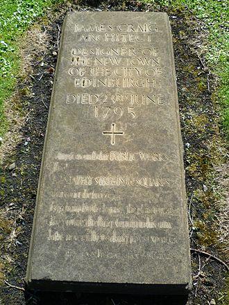 James Craig (architect) - Grave of James Craig in Greyfriars Kirkyard