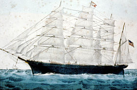 Le quatre-mâts clipper Great Republic