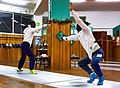 Greek Epee Fencers. Evening training at Athenaikos Fencing Club with guests from other clubs. On the right Ilias Konstantinidis (Victoria Fencing Club).jpg