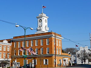 Greencastle, Pennsylvania - Bank Clock tower on the square