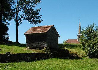 Longchaumois - Image: Grenier fort