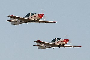 Israeli Air Force flight academy - A pair of Grob G-120A aircraft at the IAF cadet graduation ceremony