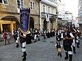 Grupo de gaitas en las fiestas de San Roque. Ciudad de Betanzos. Galicia, España.jpg