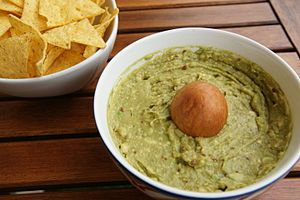 Guacamole - Guacamole with tortilla chips