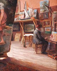 Gustave COLIN Le peintre dans son atelier.jpg
