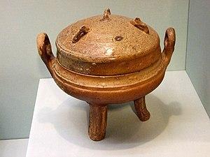 Ding (vessel) - Ceramic tripod ding, Han Dynasty