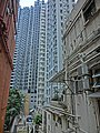 HK Mid-Levels Pokfulam Road back lane view Kwong Fung Terrace April 2013.JPG