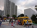 HK Shatin 史諾比開心世界 Snoopy's World view 沙田中心 Shatin Centre facade May-2016 yellow school bus.JPG