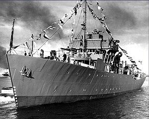 HMCS Port Arthur - HMCS Port Arthur at commissioning 1942.