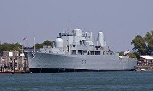 HMS Bristol (D23) - HMS Bristol moored alongside Whale Island, Portsmouth