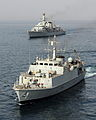 HMS Grimsby and HMS Monmouth During Exercise Khanjar Ha'ad near Oman. MOD 45153353.jpg
