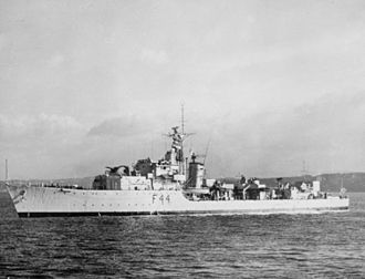 HMS Tenacious (R45) - Tenacious after conversion to a Type 16 Frigate, c1952 (IWM)