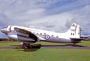 No. 48 Squadron RAF - Handley Page Hastings C.1 of 48 Squadron wearing RAF Far East titles and the unit's red triangle symbol.