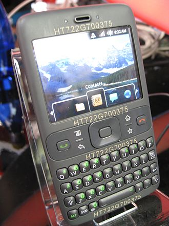 "Android (operating system) - The ""Sooner"" prototype phone, running a pre-release version of Android"