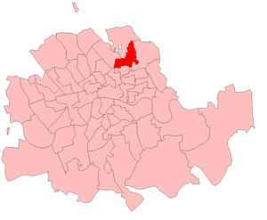 Hackney Central (UK Parliament constituency) - Hackney Central in the Metropolitan area, boundaries 1885-1918
