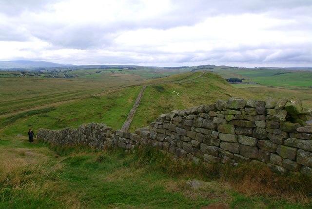 Hadrian's Wall view near Greenhead