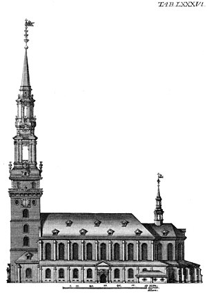 Church of Our Lady (Copenhagen) - The cathedral as rebuilt in the 18th century