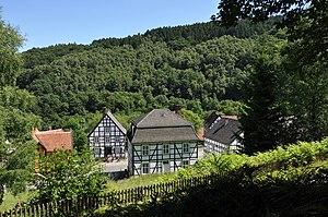 Hagen Open-air Museum - Part of the open-air museum in the Mäckingerbach valley