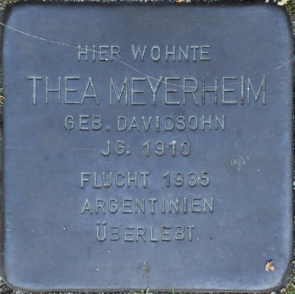 Hagenow Stolperstein Parkstraße 33 Meyerheim, Thea