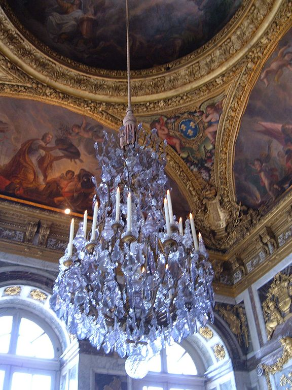 File Hall Of Mirrors Palace Of Versailles Chandelier Jpg