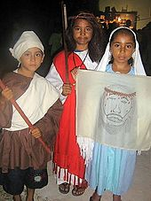 belizean children dressed up as biblical figures and christian saints - True Meaning Of Halloween Christian