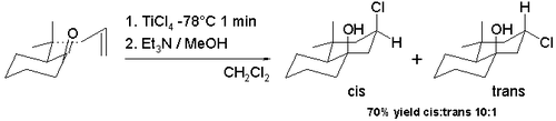 Scheme 7. Halo-Prins reaction