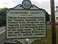 Hampshire County Historical Marker Paw Paw Road Woodrow WV 2014 09 11 02.jpg