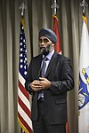 Harjit Saijan, Minister of Defence, at NORAD, Colorado, 160120-F-VT441-051 (24142699509).jpg