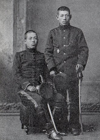 Shunroku Hata - Hata (on the left) with his brother before the Russo-Japanese War