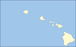 Location of Sacred Falls State Park in Hawaii