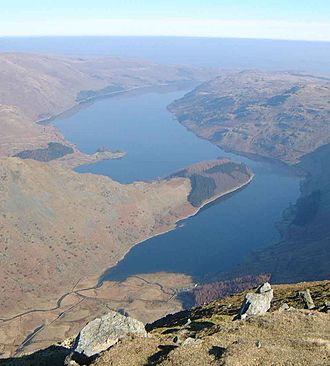 Reservoir - Haweswater in the Lake District, UK supplies water to Manchester.