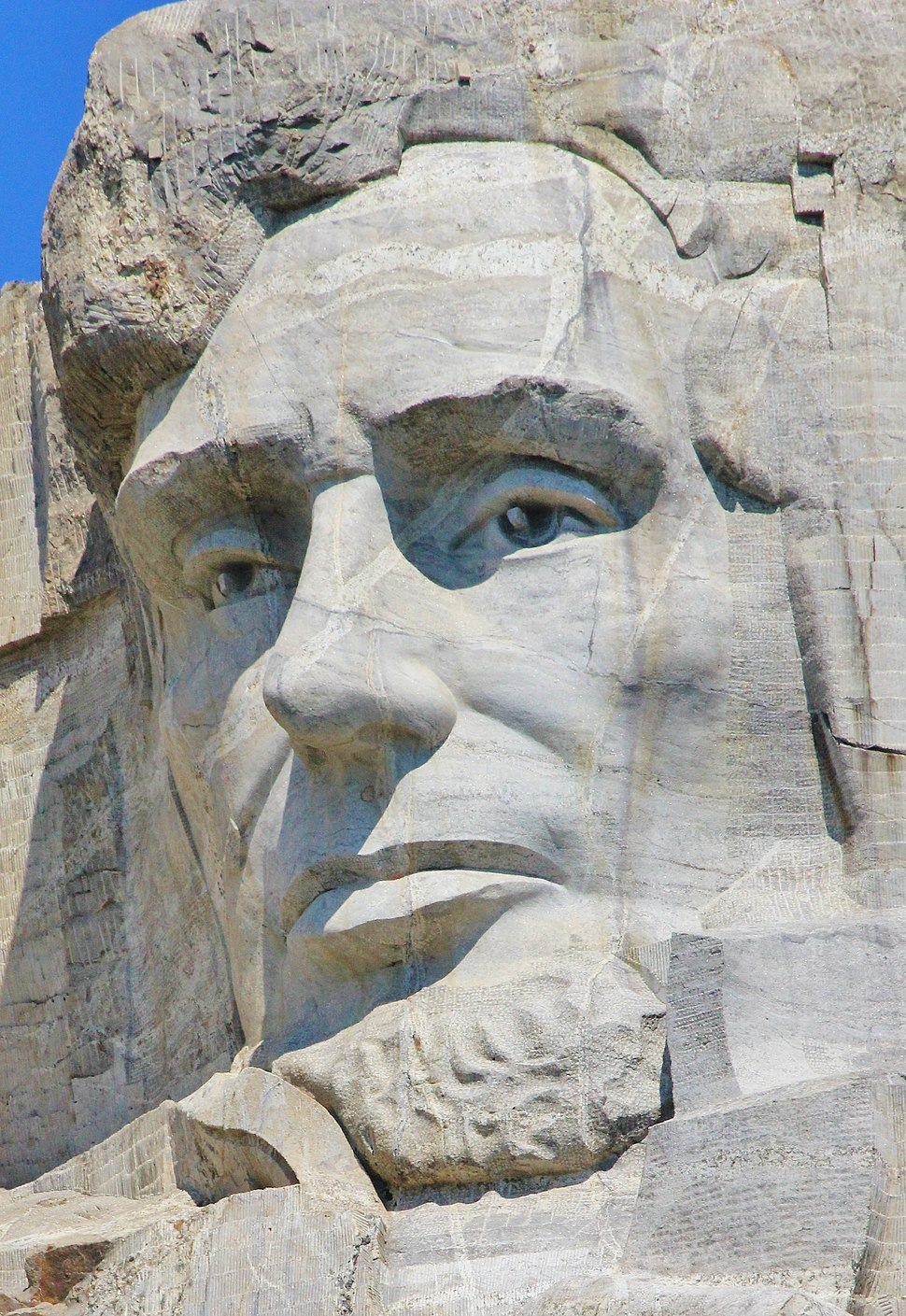 Head of Abraham Lincoln at Mount Rushmore