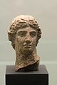 Head of Apollo, terracotta, Hellenistic, Prague NM-H10 1875, 151422.jpg