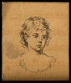 Head of a young woman. Drawing, c. 1794. Wellcome V0009206EL.jpg