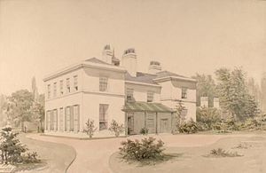 Handsworth, West Midlands - An 1835 painting of Heathfield Hall, by Allen Edward Everitt