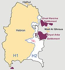 Hebron Israel Map Protocol Concerning the Redeployment in Hebron   Wikipedia