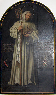 Bernard of Clairvaux, true effigy by Georg Andreas Wasshuber (1650-1732), (painted after a statue in Clairvaux with the true effigy of the saint)