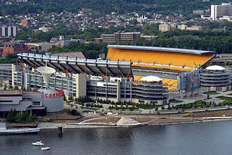 Heinz Field - View from Mount Washington in August 2005